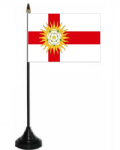Yorkshire West Riding Desk / Table Flag with plastic stand and base